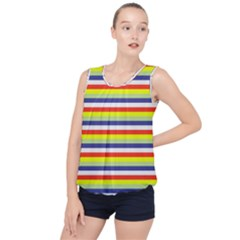 Stripey 2 Bubble Hem Chiffon Tank Top by anthromahe
