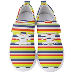 Stripey 2 Men s Velcro Strap Shoes by anthromahe
