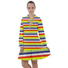 Stripey 2 All Frills Chiffon Dress by anthromahe