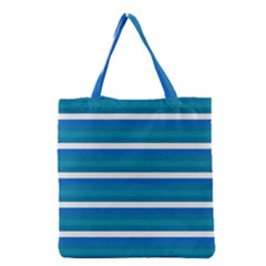 Stripey 3 Grocery Tote Bag by anthromahe