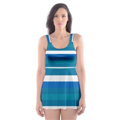 Stripey 3 Skater Dress Swimsuit by anthromahe