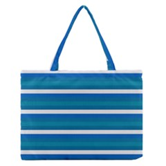Stripey 3 Zipper Medium Tote Bag