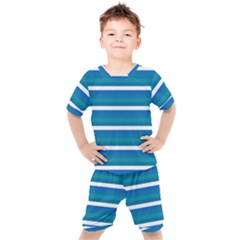 Stripey 3 Kids  Tee And Shorts Set by anthromahe
