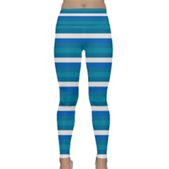 Stripey 3 Lightweight Velour Classic Yoga Leggings by anthromahe