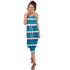 Stripey 3 Waist Tie Cover Up Chiffon Dress