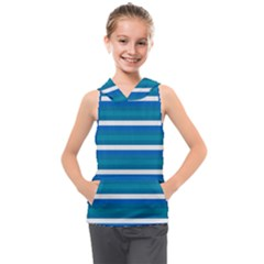 Stripey 3 Kids  Sleeveless Hoodie by anthromahe