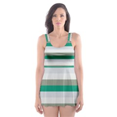Stripey 4 Skater Dress Swimsuit by anthromahe