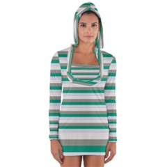 Stripey 4 Long Sleeve Hooded T-shirt