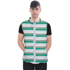Stripey 4 Men s Puffer Vest by anthromahe