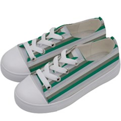 Stripey 4 Kids  Low Top Canvas Sneakers by anthromahe