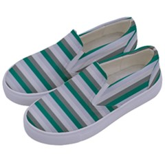 Stripey 4 Kids  Canvas Slip Ons by anthromahe