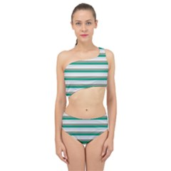 Stripey 4 Spliced Up Two Piece Swimsuit by anthromahe