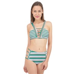 Stripey 4 Cage Up Bikini Set by anthromahe