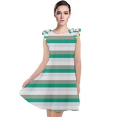 Stripey 4 Tie Up Tunic Dress by anthromahe