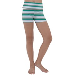 Stripey 4 Kids  Lightweight Velour Yoga Shorts by anthromahe