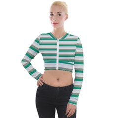 Stripey 4 Long Sleeve Cropped Velvet Jacket by anthromahe