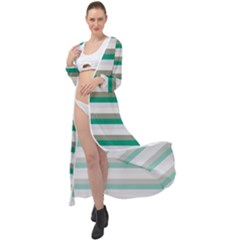 Stripey 4 Maxi Chiffon Beach Wrap
