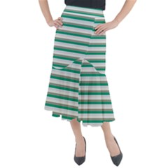 Stripey 4 Midi Mermaid Skirt by anthromahe