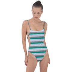 Stripey 4 Tie Strap One Piece Swimsuit by anthromahe