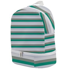 Stripey 4 Zip Bottom Backpack by anthromahe