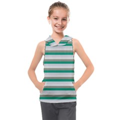 Stripey 4 Kids  Sleeveless Hoodie by anthromahe
