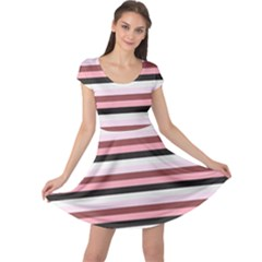 Stripey 5 Cap Sleeve Dress by anthromahe