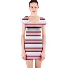 Stripey 5 Short Sleeve Bodycon Dress by anthromahe