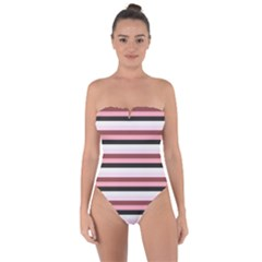 Stripey 5 Tie Back One Piece Swimsuit by anthromahe