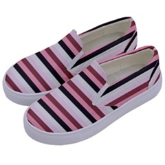 Stripey 5 Kids  Canvas Slip Ons by anthromahe