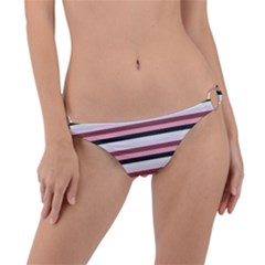 Stripey 5 Ring Detail Bikini Bottom by anthromahe