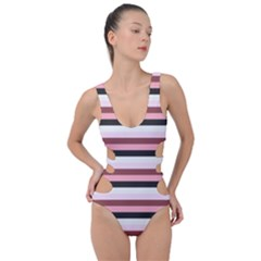 Stripey 5 Side Cut Out Swimsuit by anthromahe