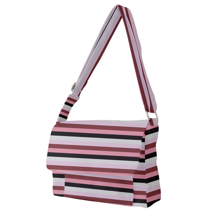 Stripey 5 Full Print Messenger Bag (L)