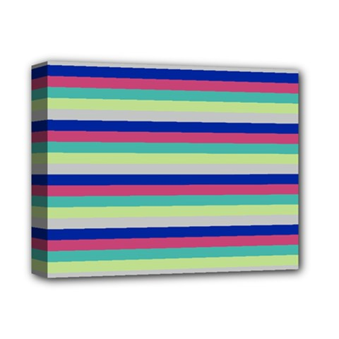 Stripey 6 Deluxe Canvas 14  X 11  (stretched) by anthromahe