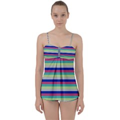 Stripey 6 Babydoll Tankini Set by anthromahe