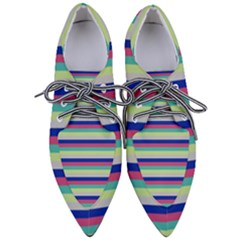 Stripey 6 Women s Pointed Oxford Shoes