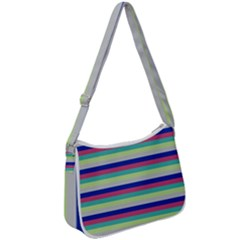 Stripey 6 Zip Up Shoulder Bag by anthromahe
