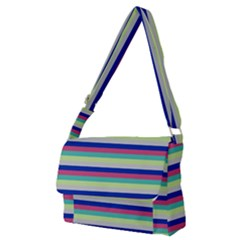 Stripey 6 Full Print Messenger Bag (m) by anthromahe