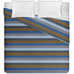 Stripey 7 Duvet Cover Double Side (king Size) by anthromahe