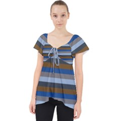 Stripey 7 Lace Front Dolly Top by anthromahe