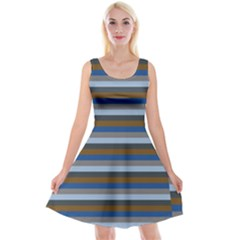 Stripey 7 Reversible Velvet Sleeveless Dress by anthromahe