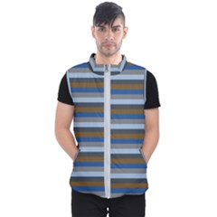 Stripey 7 Men s Puffer Vest by anthromahe