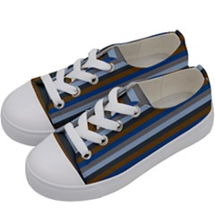 Stripey 7 Kids  Low Top Canvas Sneakers by anthromahe