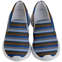 Stripey 7 Kids Lightweight Slip Ons by anthromahe