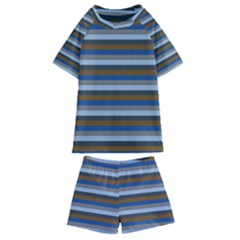 Stripey 7 Kids  Swim Tee And Shorts Set by anthromahe