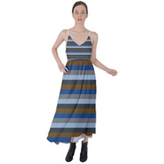 Stripey 7 Tie Back Maxi Dress by anthromahe