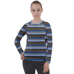 Stripey 7 Women s Long Sleeve Raglan Tee