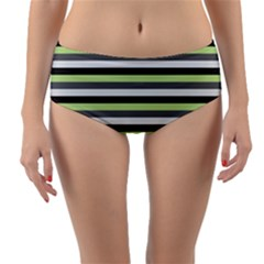 Stripey 8 Reversible Mid-waist Bikini Bottoms by anthromahe