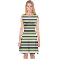 Stripey 8 Capsleeve Midi Dress by anthromahe