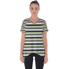 Stripey 8 Cut Out Side Drop Tee