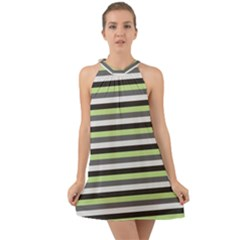 Stripey 8 Halter Tie Back Chiffon Dress by anthromahe